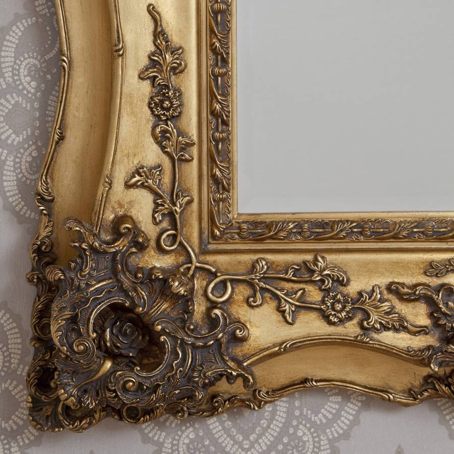Vintage Ornate Gold Decorative Mirrordecorative Mirrors Online with Gold Ornate Mirrors (Image 24 of 25)