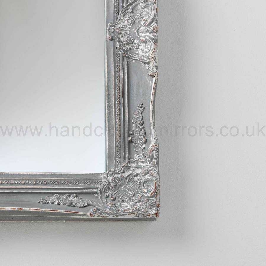 Vintage Ornate Grey Large Mirrorhand Crafted Mirrors throughout Ornate Large Mirrors (Image 22 of 25)