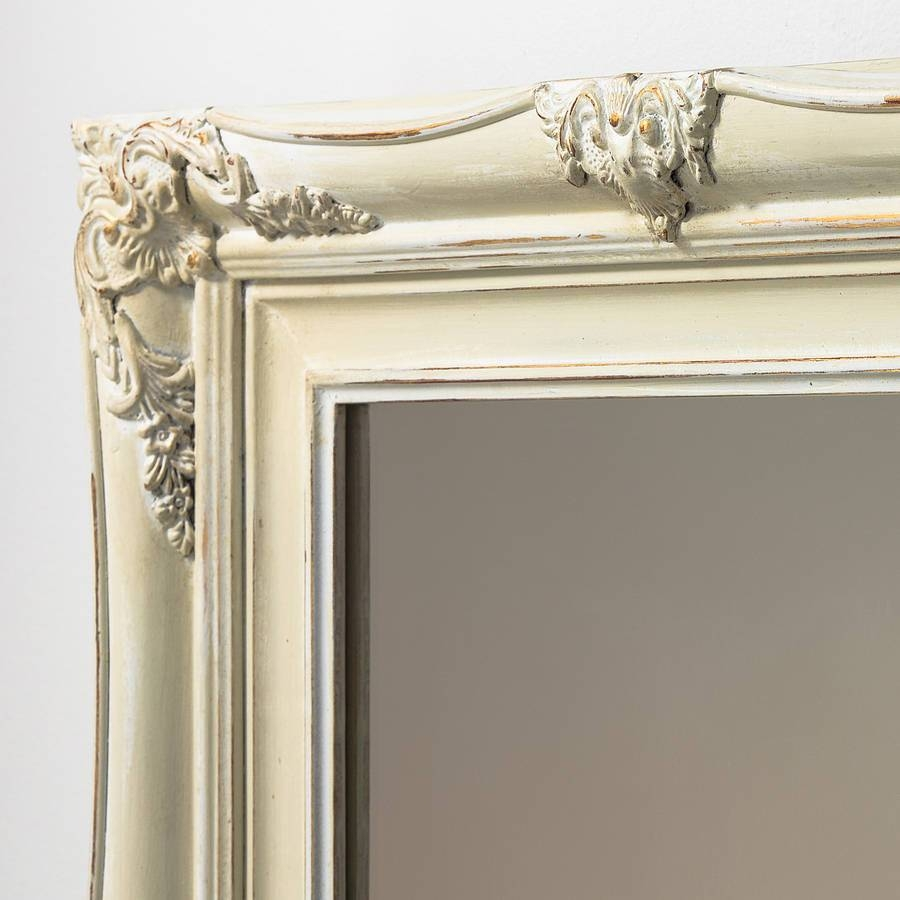 Vintage Ornate Hand Painted Mirrorhand Crafted Mirrors inside Antique Cream Mirrors (Image 25 of 25)
