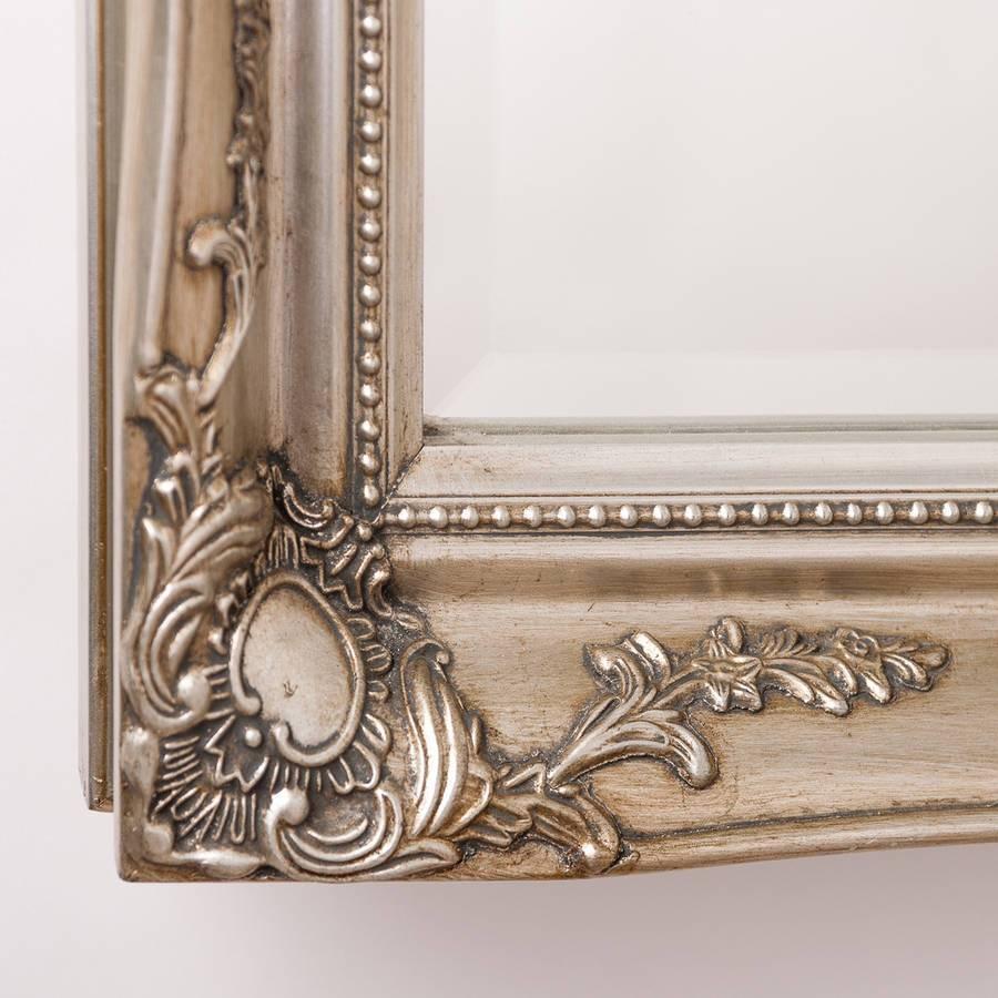 Vintage Ornate Mirror Antique Silverhand Crafted Mirrors Pertaining To Antique Ornate Mirrors (View 9 of 25)