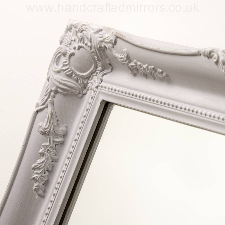 Vintage Ornate Mirror Antique Silverhand Crafted Mirrors pertaining to Ivory Ornate Mirrors (Image 23 of 25)