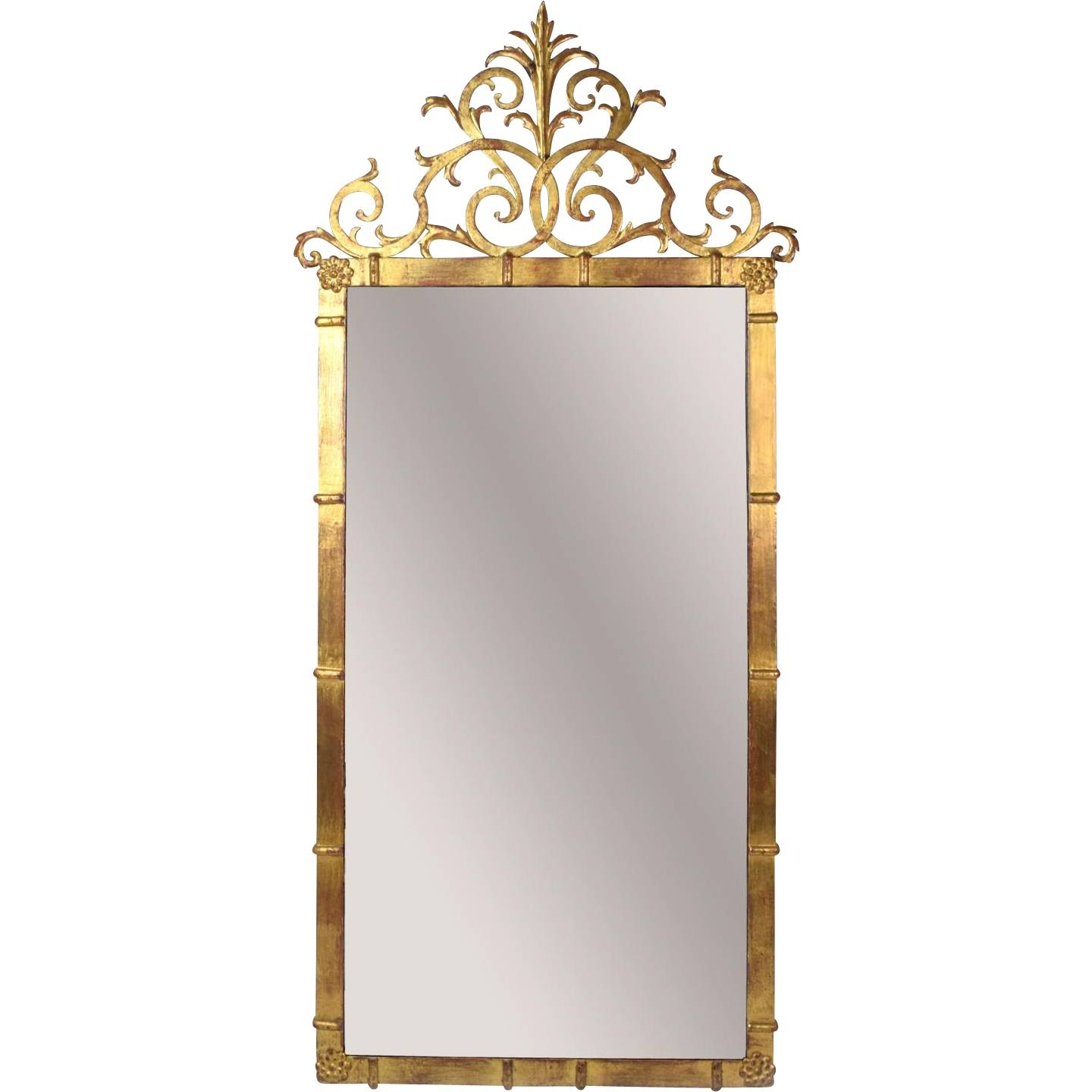 Vintage Palladio Italian Rococo Gilt Metal Pier Wall Mirror From for Vintage Wall Mirrors (Image 19 of 25)