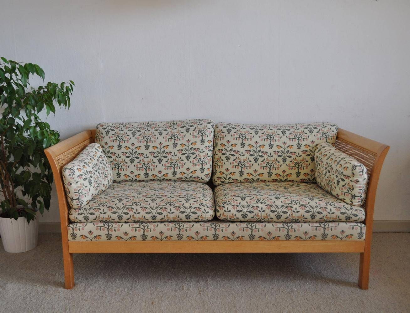 Vintage Rattan Two-Seater Sofa From Arne Norell For Sale At Pamono within Two Seater Sofas (Image 29 of 30)