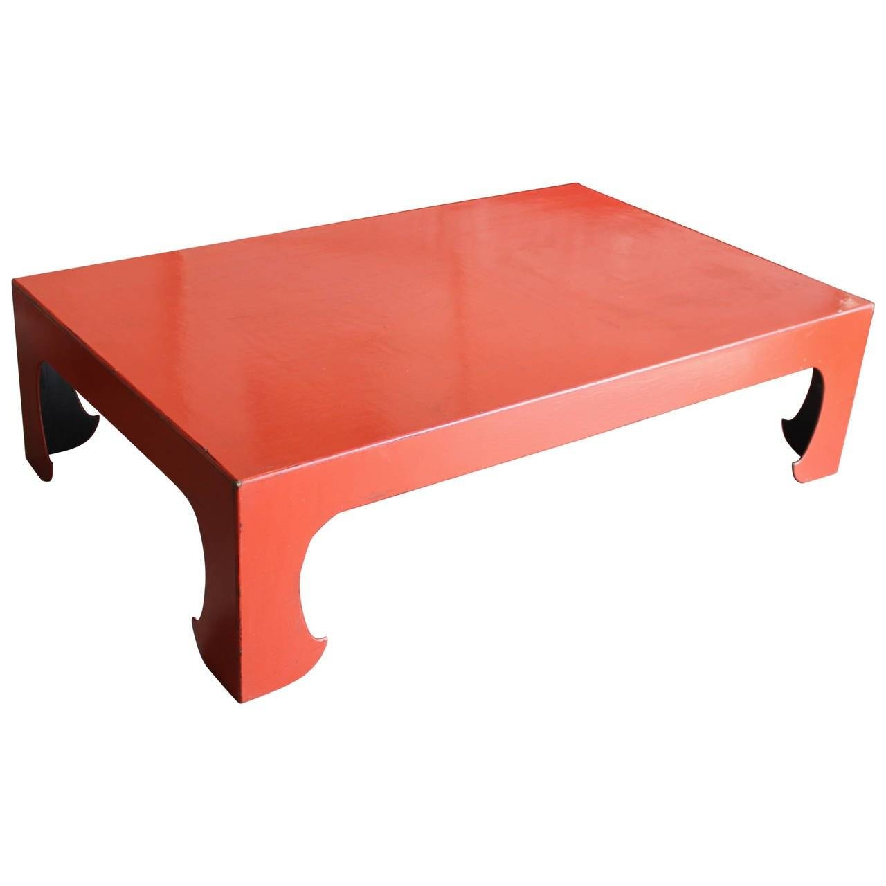 Vintage Red Coral Lacquered Chinese Coffee Table For Sale At 1Stdibs pertaining to Lacquer Coffee Tables (Image 30 of 30)