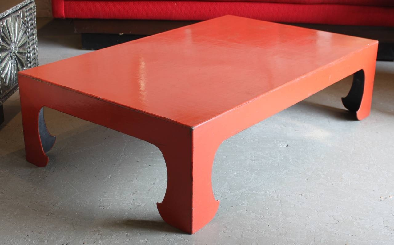 Vintage Red Coral Lacquered Chinese Coffee Table For Sale At 1Stdibs with regard to Chinese Coffee Tables (Image 29 of 30)