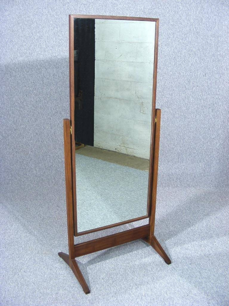 Vintage Retro Teak Full Length Floor Standing Cheval Mirror 1960's regarding Full Length Vintage Standing Mirrors (Image 25 of 25)