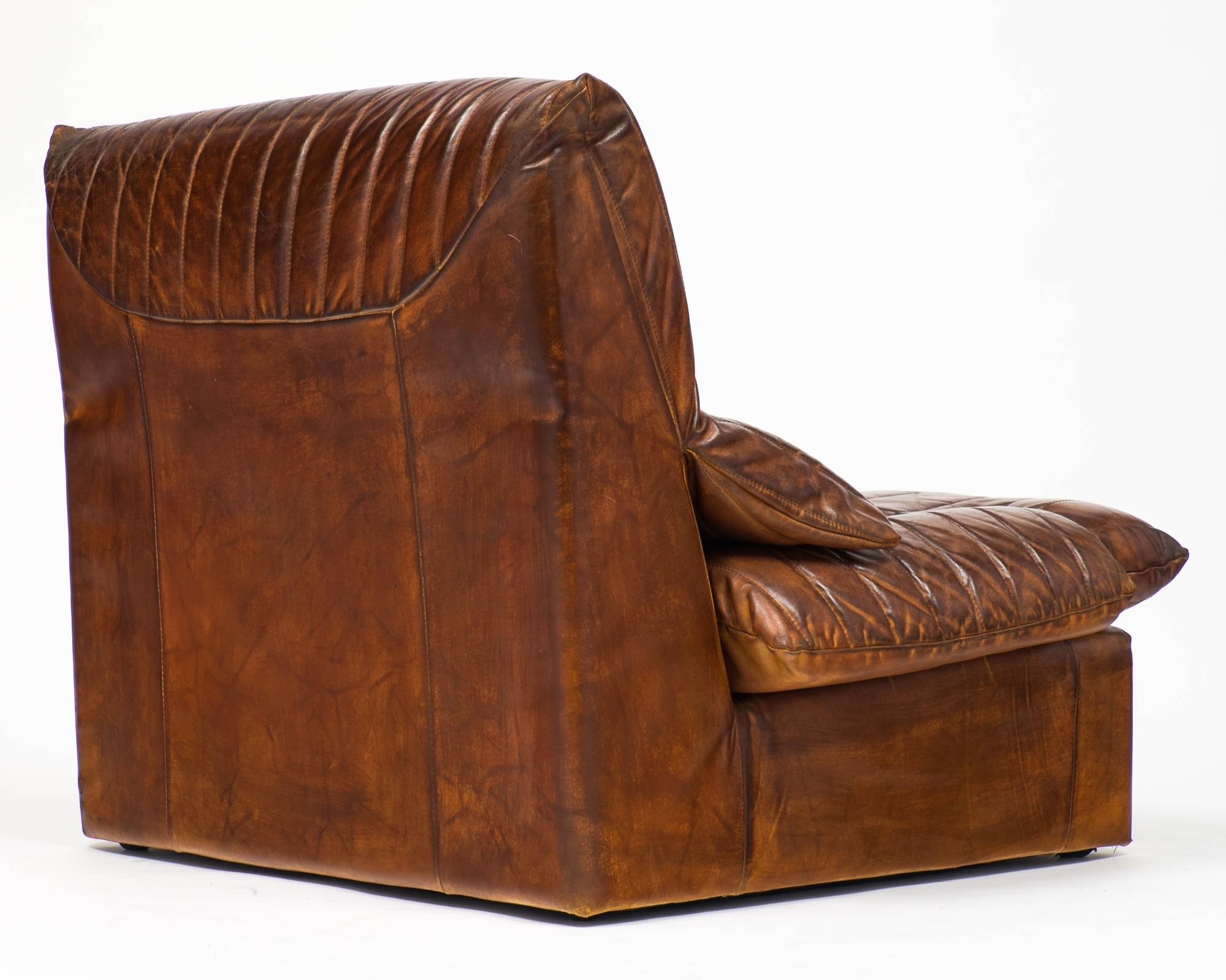 Vintage Roche Bobois Leather Armchairs - Jean Marc Fray regarding Vintage Leather Armchairs (Image 26 of 30)