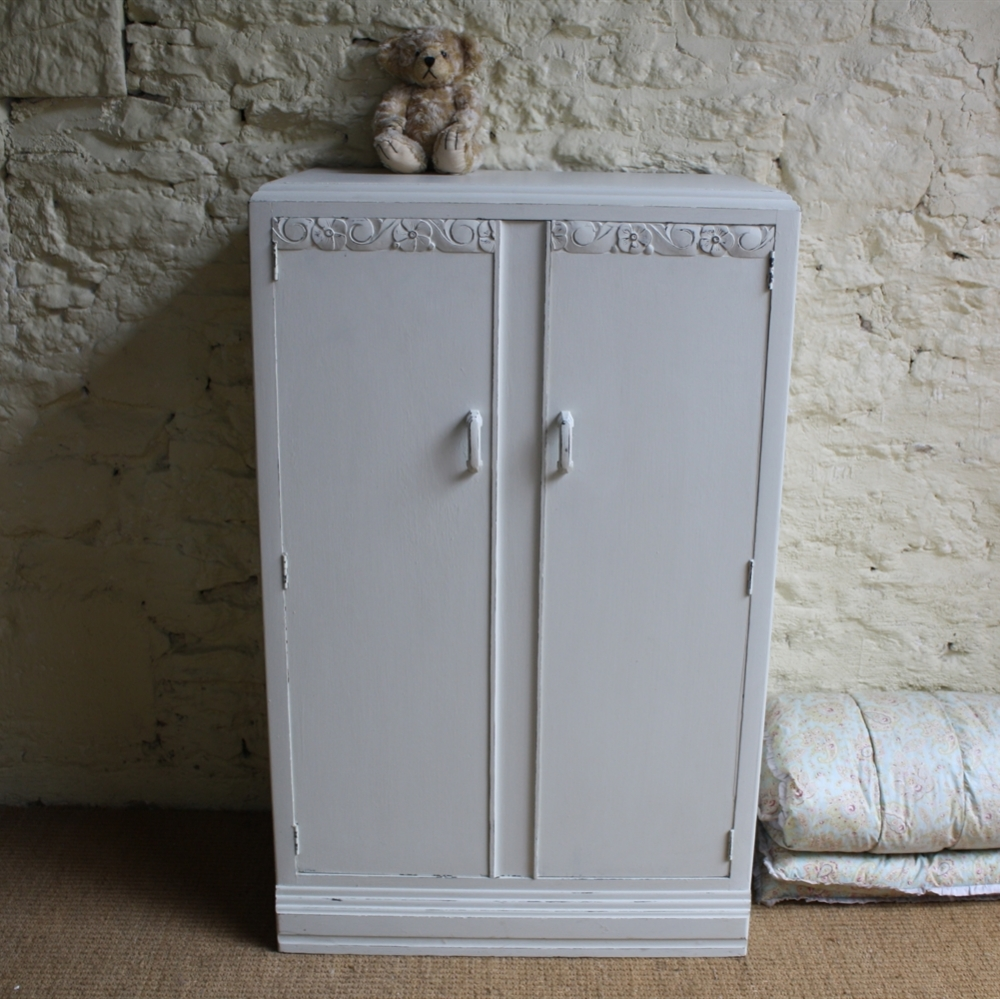 Vintage Small Wardrobe | Wardrobes | Furniture within Short Wardrobes (Image 14 of 15)
