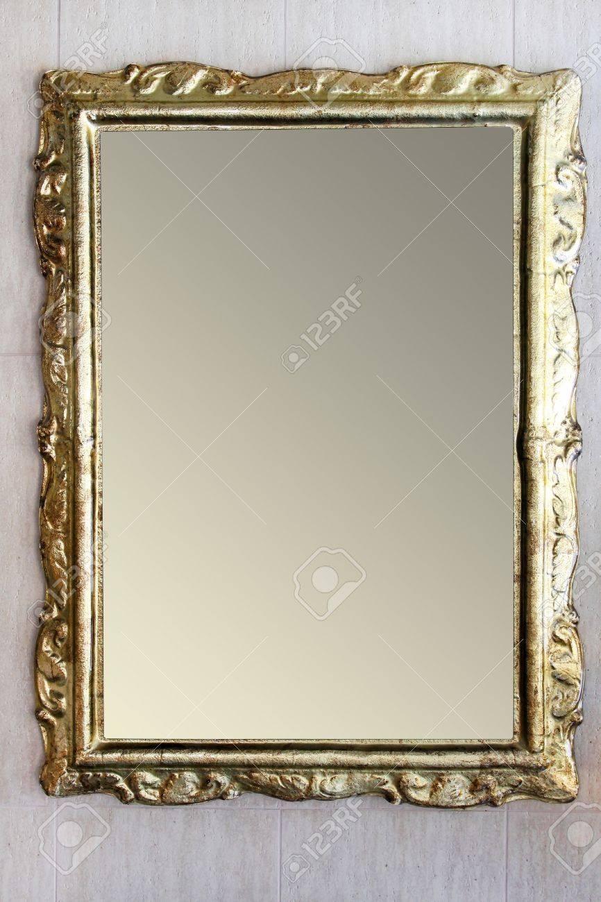 Vintage Style Mirror With Irregular Border Frame Stock Photo with regard to Vintage Style Mirrors (Image 24 of 25)