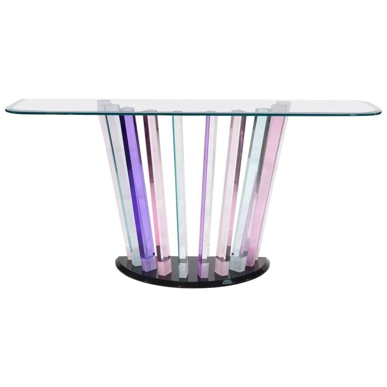 Vintage Swirl Glass Coffee Table – Cocinacentral.co in Swirl Glass Coffee Tables (Image 26 of 30)