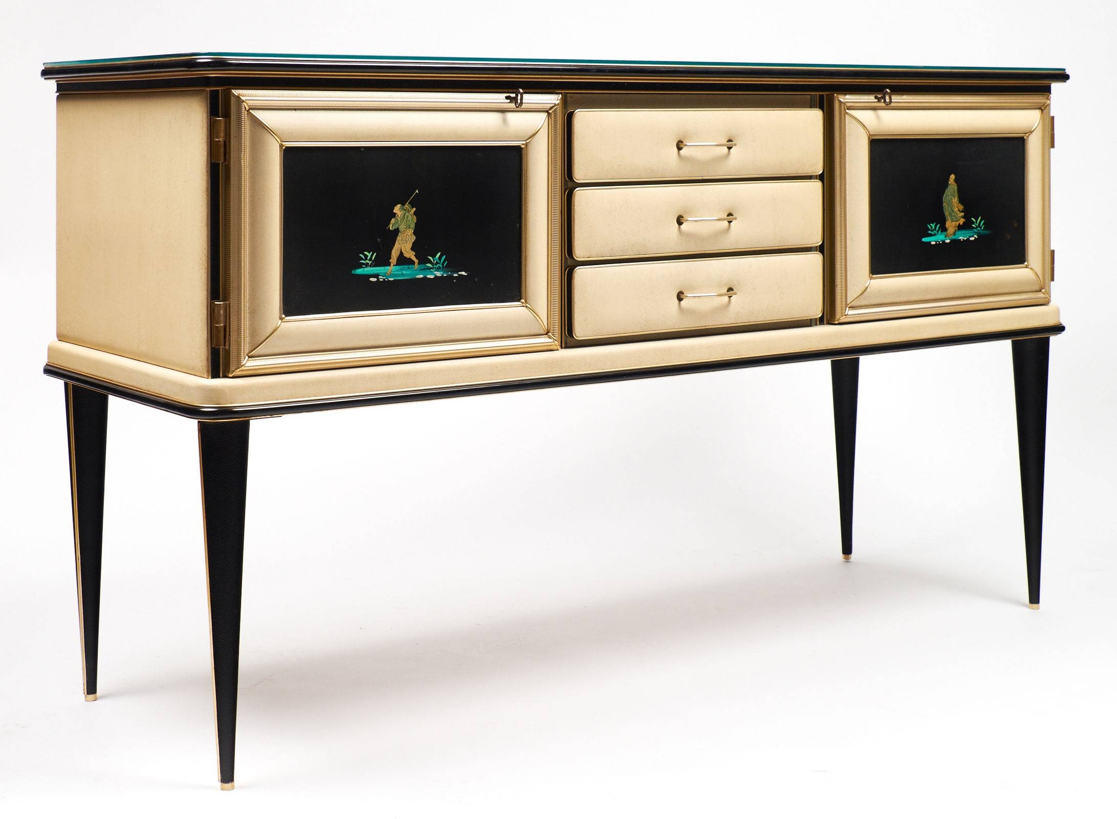Vintage Umberto Mascagni Chinoiserie Sideboard - Jean Marc Fray pertaining to Chinoiserie Sideboards (Image 26 of 30)