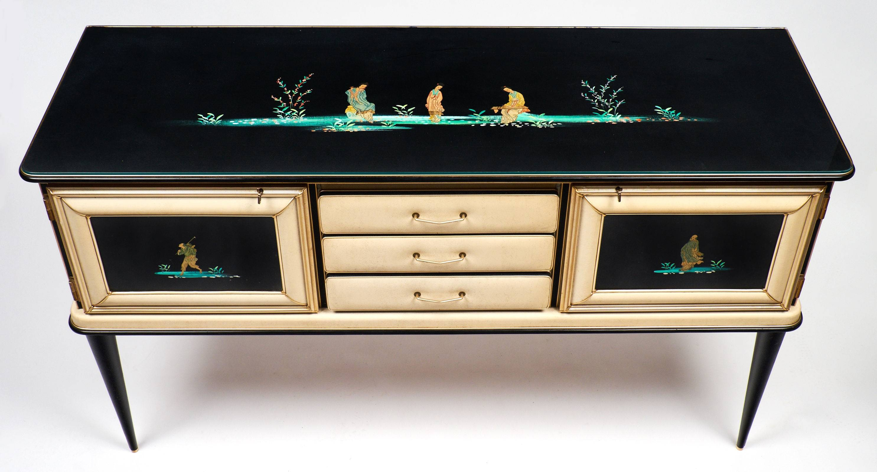 Vintage Umberto Mascagni Chinoiserie Sideboard - Jean Marc Fray regarding Chinoiserie Sideboards (Image 27 of 30)