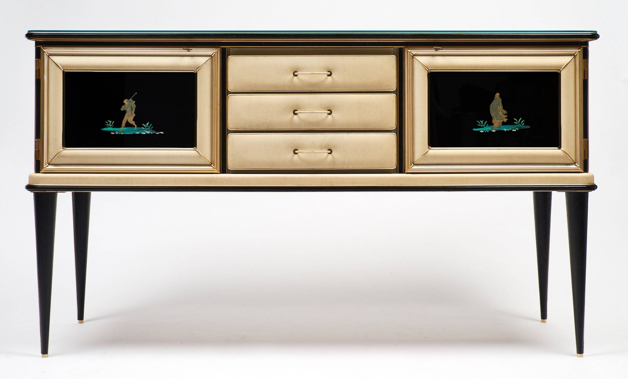 Vintage Umberto Mascagni Chinoiserie Sideboard - Jean Marc Fray within Chinoiserie Sideboards (Image 29 of 30)