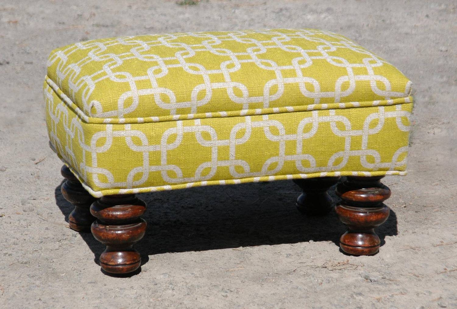 Vintage Upholstered Footstool with Upholstered Footstools (Image 28 of 30)