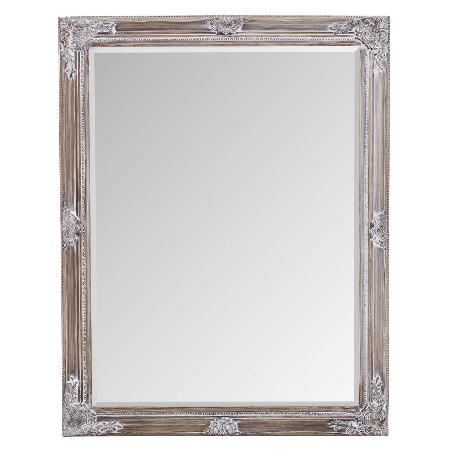 Vintage White Ornate Mirror intended for White Ornate Mirrors (Image 20 of 25)