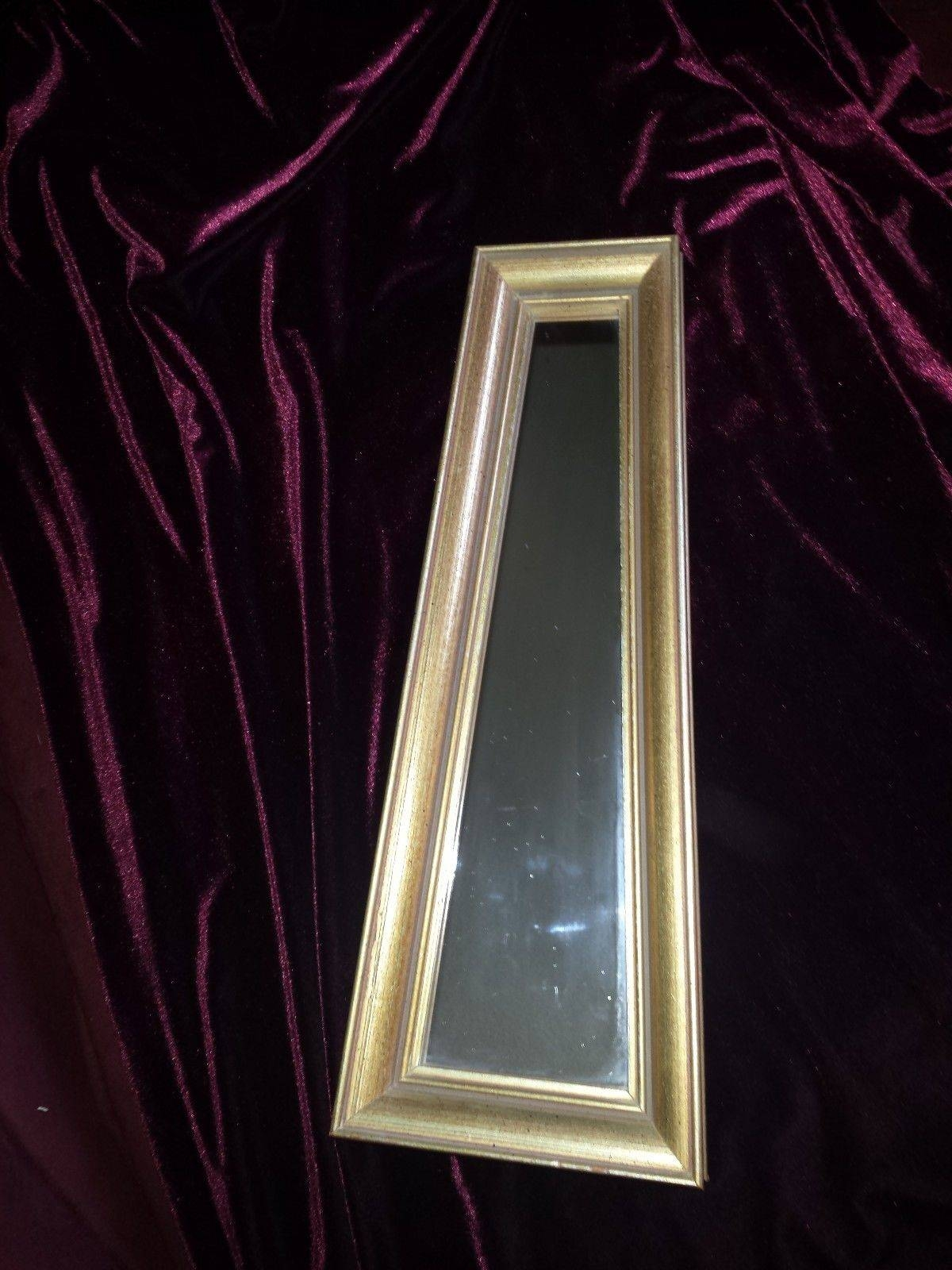 Vintage Wooden Wall Mirror Small Odd Shaped | What's It Worth inside Odd Shaped Mirrors (Image 25 of 25)