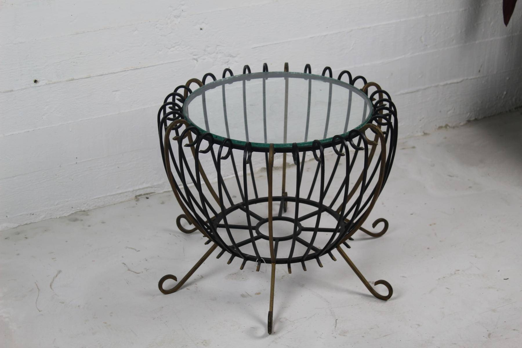 Vintage Wrought Iron Coffee Table For Sale At Pamono for Wrought Iron Coffee Tables (Image 15 of 30)