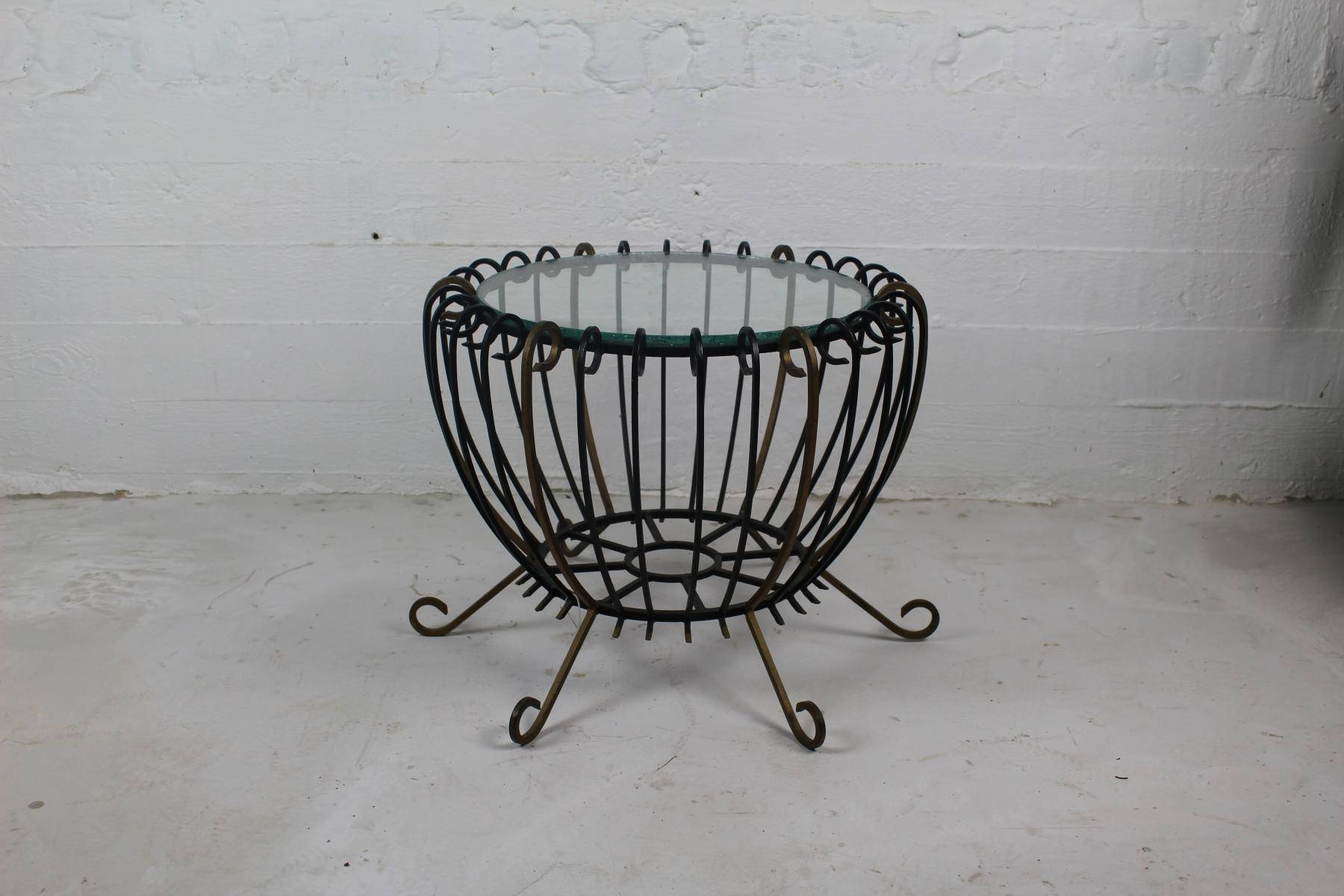 Vintage Wrought Iron Coffee Table For Sale At Pamono inside Wrought Iron Coffee Tables (Image 16 of 30)