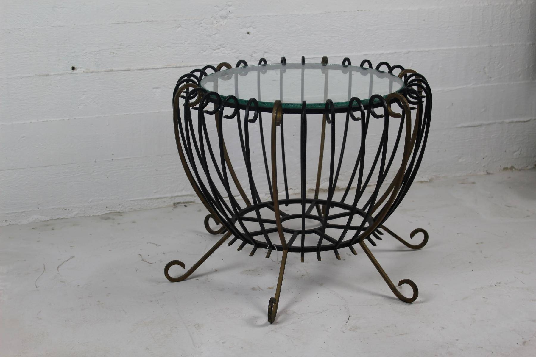 Vintage Wrought Iron Coffee Table For Sale At Pamono regarding Wrought Iron Coffee Tables (Image 17 of 30)