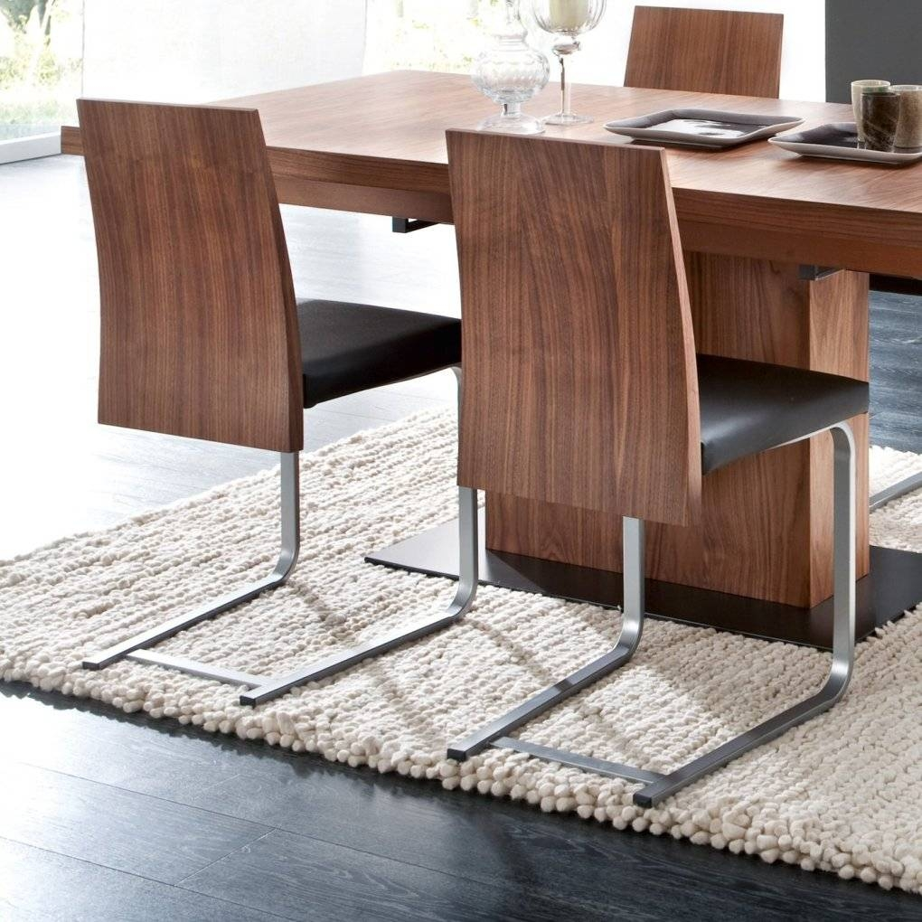 Vita/jeff/verve Dining Set-Walnut-Torero Black-Four Dining Chairs with Walnut and Black Sideboards (Image 29 of 30)