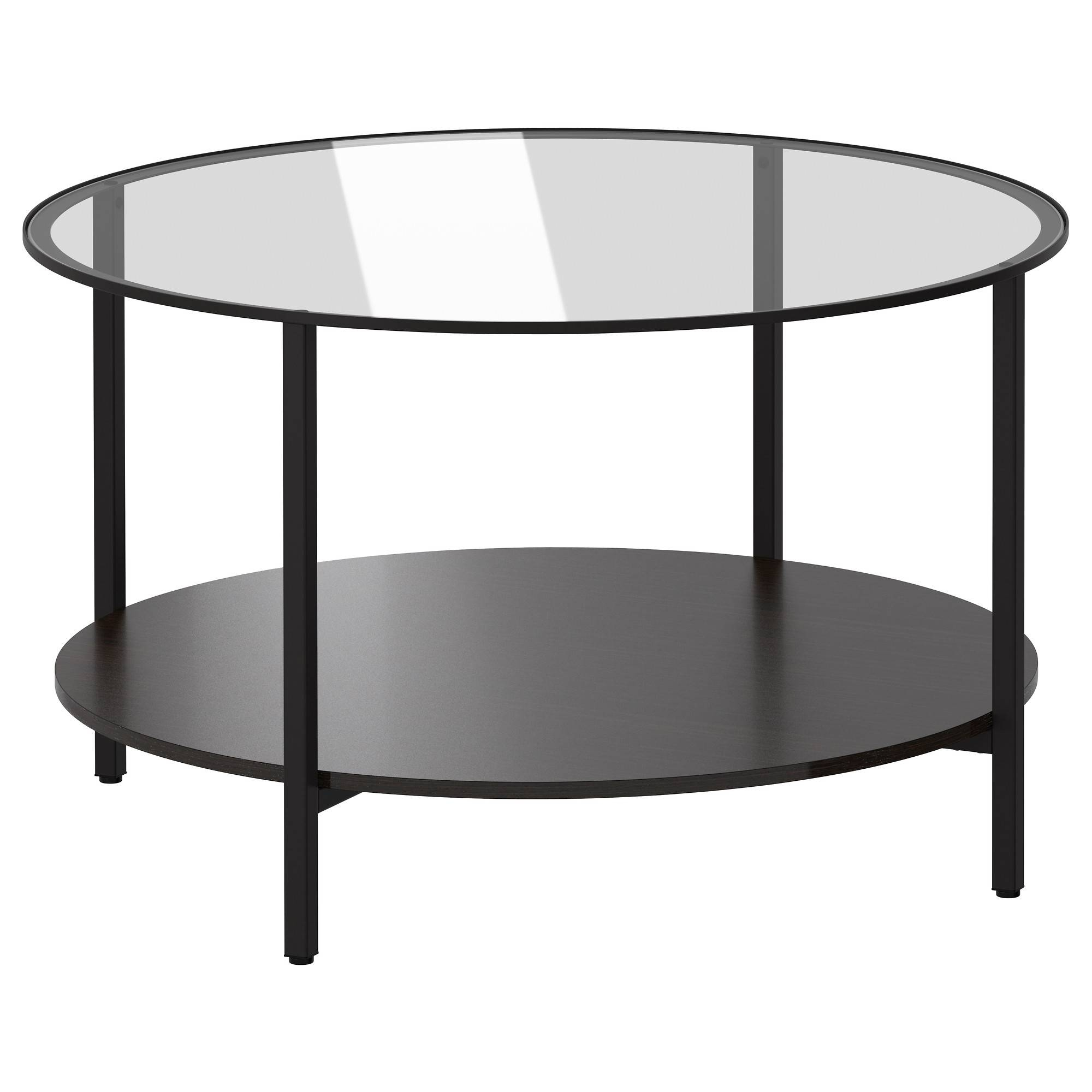 Vittsjö Coffee Table - Black-Brown/glass - Ikea for Round Glass Coffee Tables (Image 30 of 30)