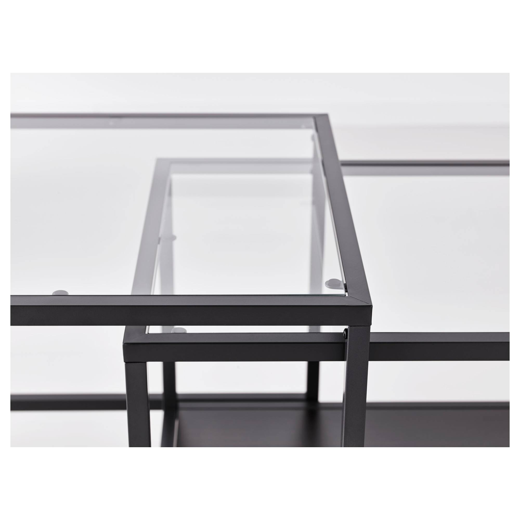 Vittsjö Nesting Tables, Set Of 2 - White/glass - Ikea inside Nest Coffee Tables (Image 30 of 30)