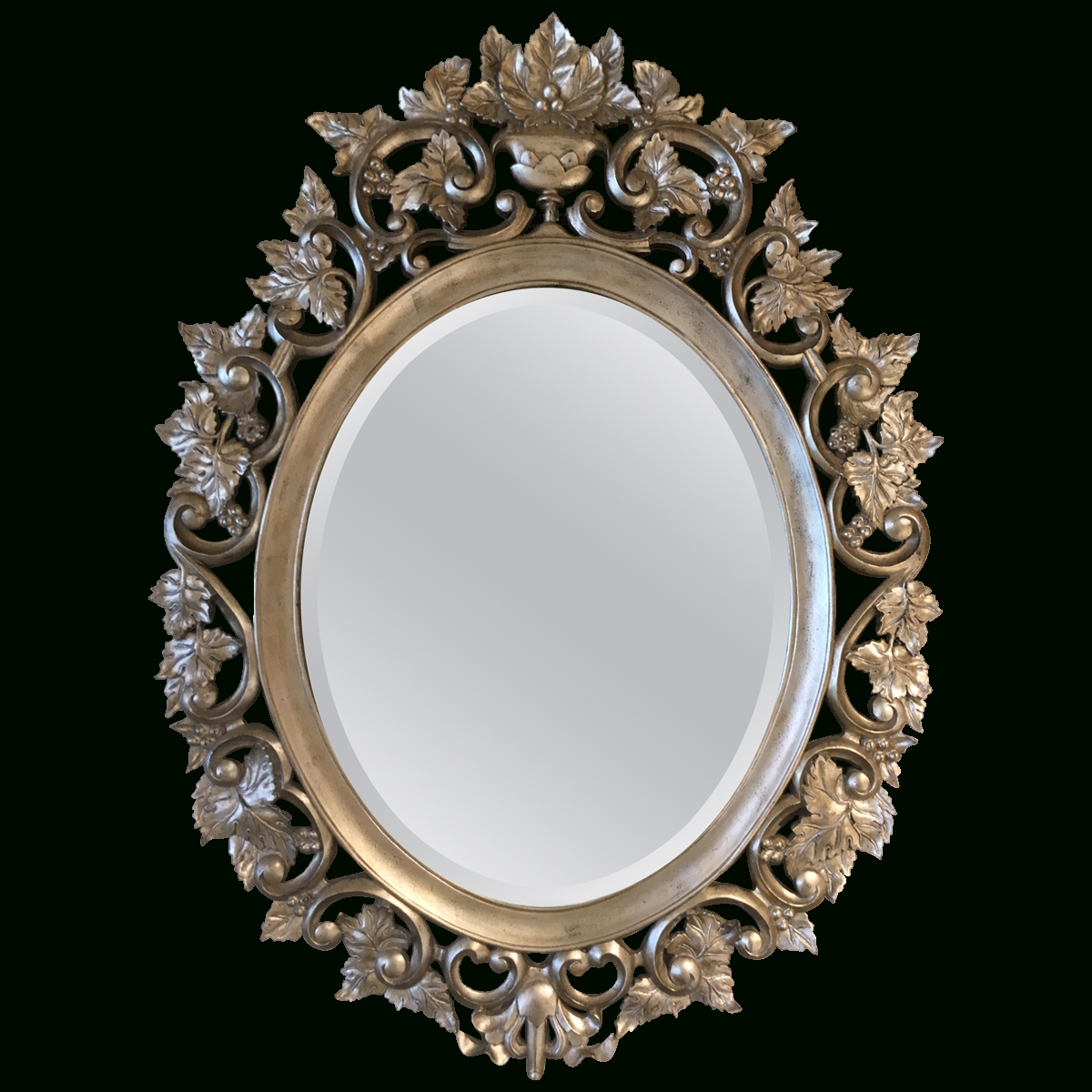 Viyet – Designer Furniture – Accessories – Maitland – Smith Carved In Silver Oval Mirrors (View 25 of 25)