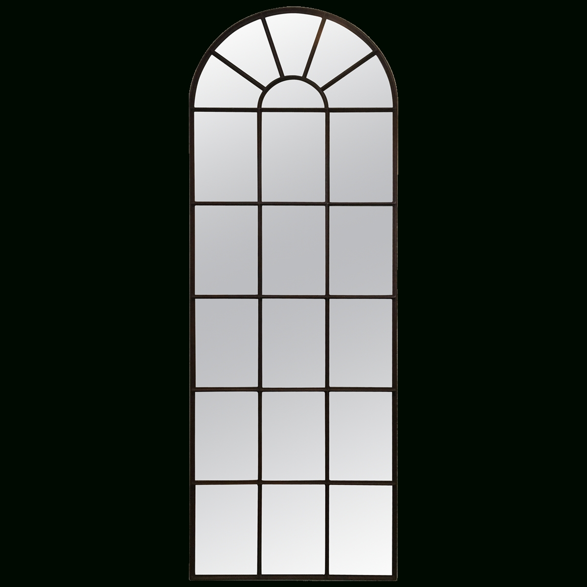 Viyet - Designer Furniture - Accessories - Traditional Iron Window with Arched Window Mirrors (Image 19 of 25)