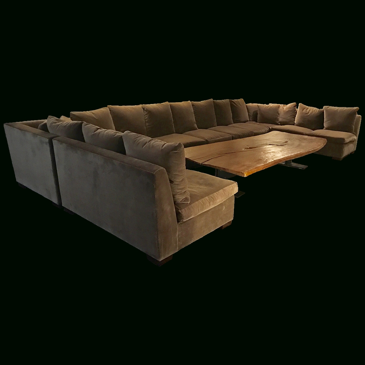 Viyet - Designer Furniture - Seating - Ralph Lauren Velvet Armless with Armless Sectional Sofa (Image 27 of 30)