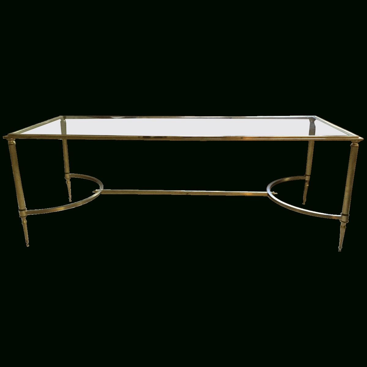 Viyet - Designer Furniture - Tables - Vintage Glass Top Coffee Table for Vintage Glass Top Coffee Tables (Image 29 of 30)