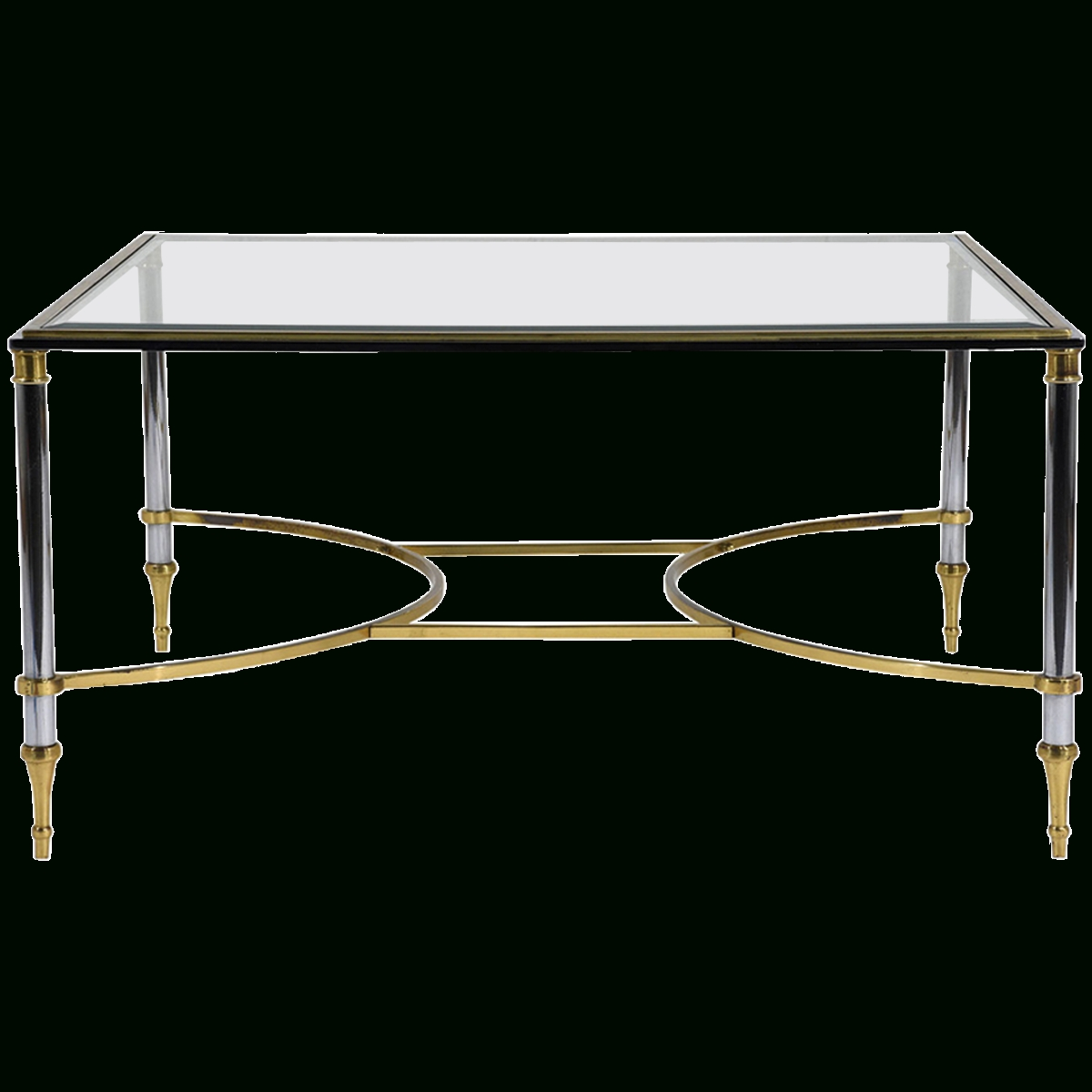 Viyet – Designer Furniture – Tables – Vintage Jansen Style Chrome Regarding Chrome And Glass Coffee Tables (View 30 of 30)