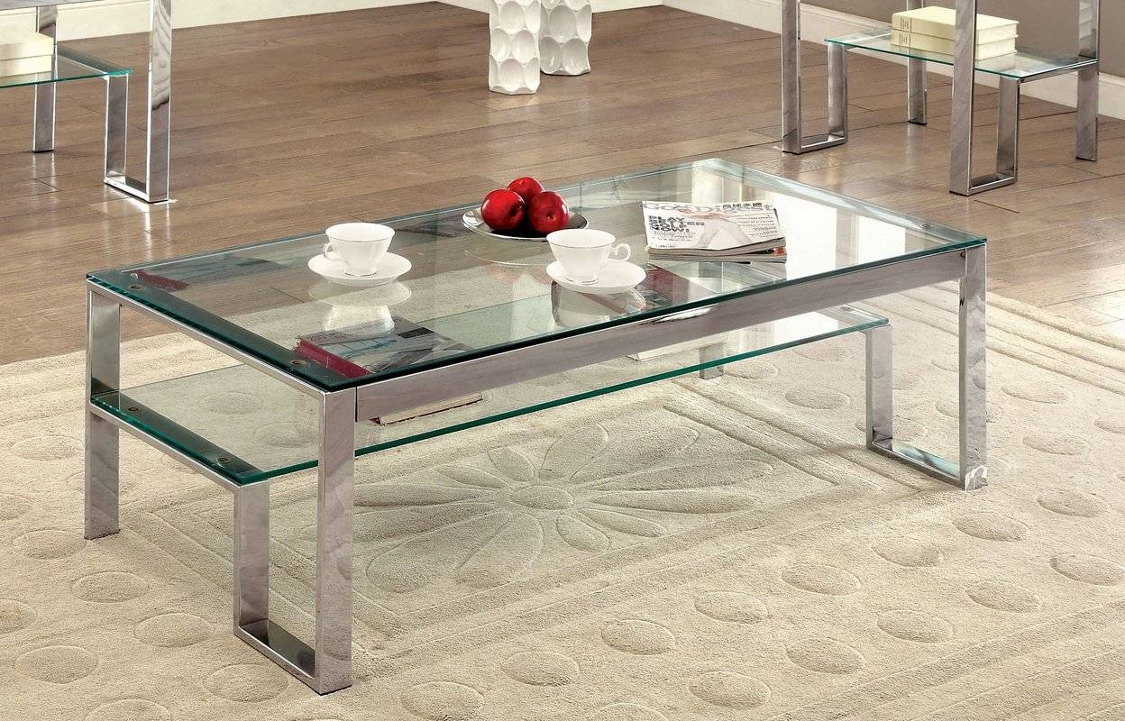 Wade Logan Arnav 2 Piece Coffee Table Set & Reviews | Wayfair in 2 Piece Coffee Table Sets (Image 30 of 30)