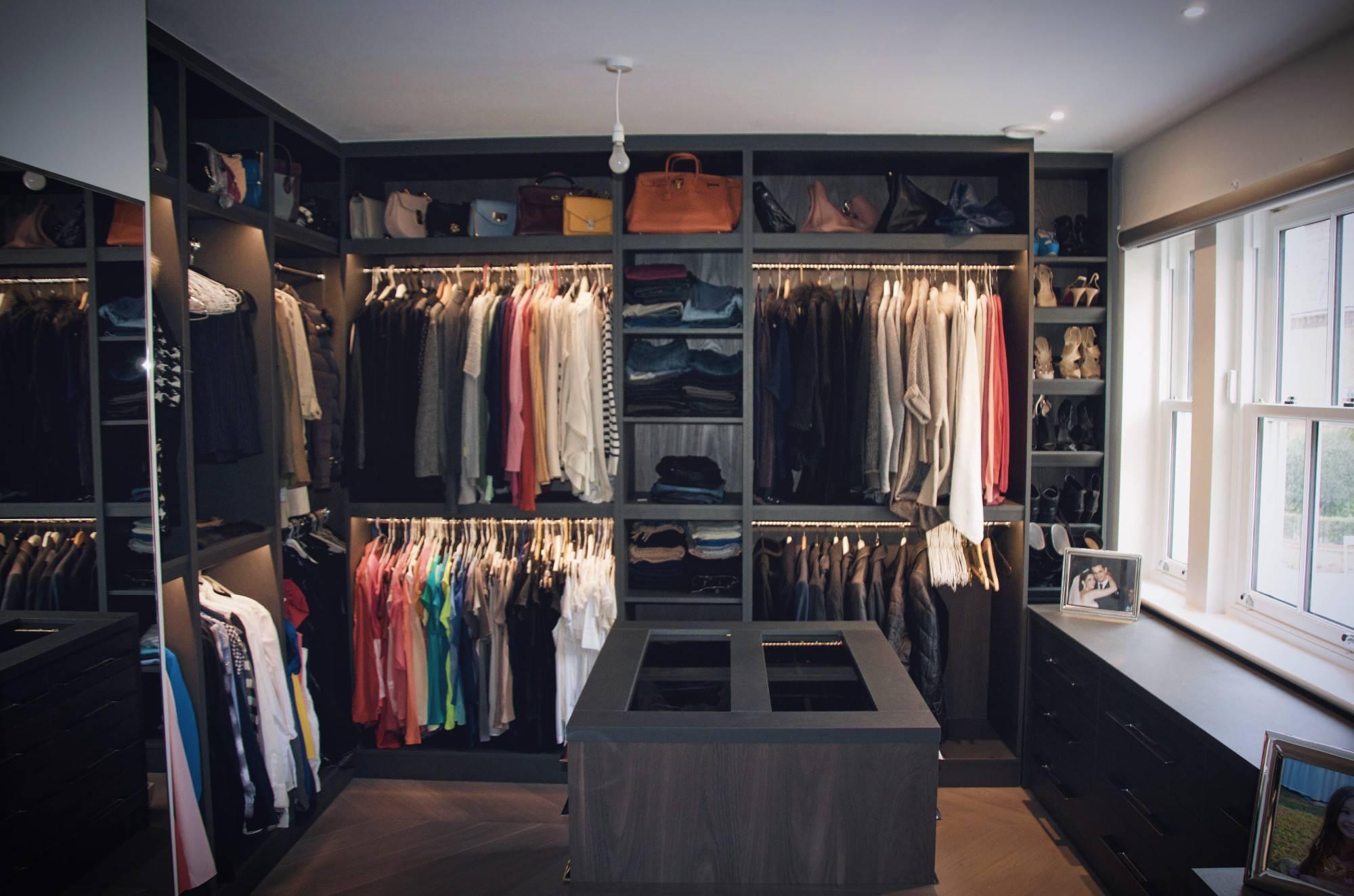 Walk In Wardrobes Design And Ideas, Walk In Closet Interiors throughout Dark Wardrobes (Image 25 of 30)