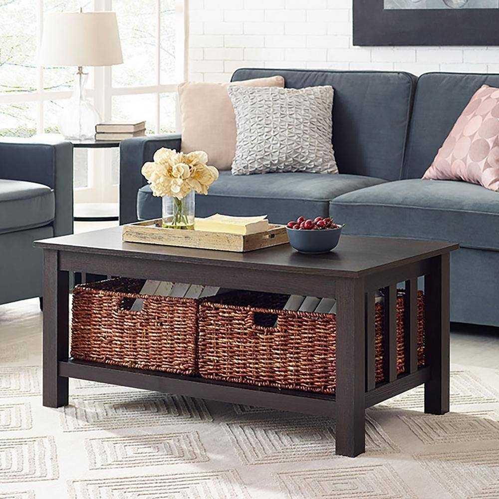 Walker Edison Furniture Company Stanford Espresso Storage Coffee intended for Espresso Coffee Tables (Image 29 of 30)