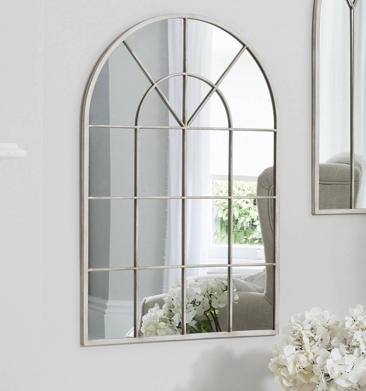 Wall Decor: Arch Wall Mirror Design. Ava Black Arch Wall Mirror throughout Cream Wall Mirrors (Image 25 of 25)