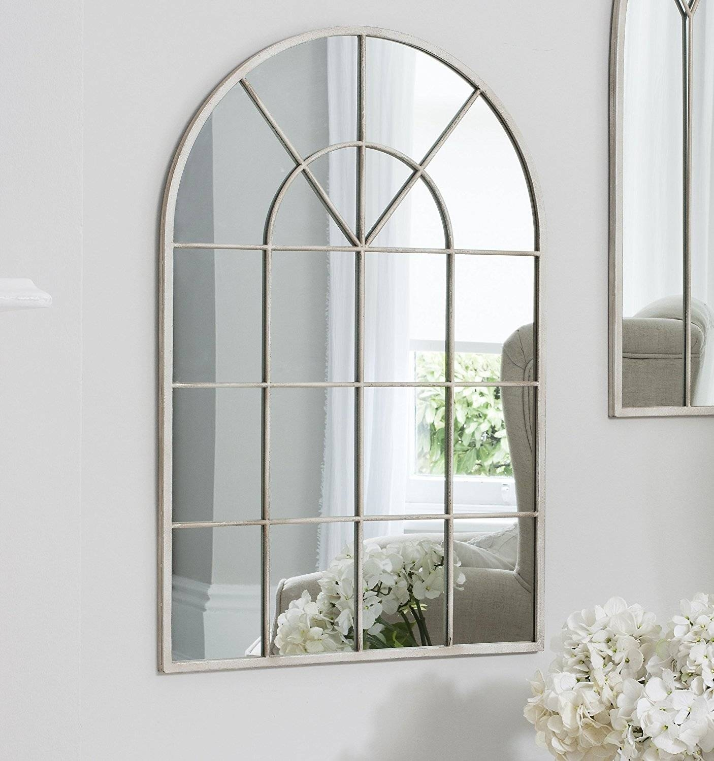 Wall Decor: Arch Wall Mirror Design. Metal Arch Wall Mirror. Large pertaining to White Arched Window Mirrors (Image 19 of 25)