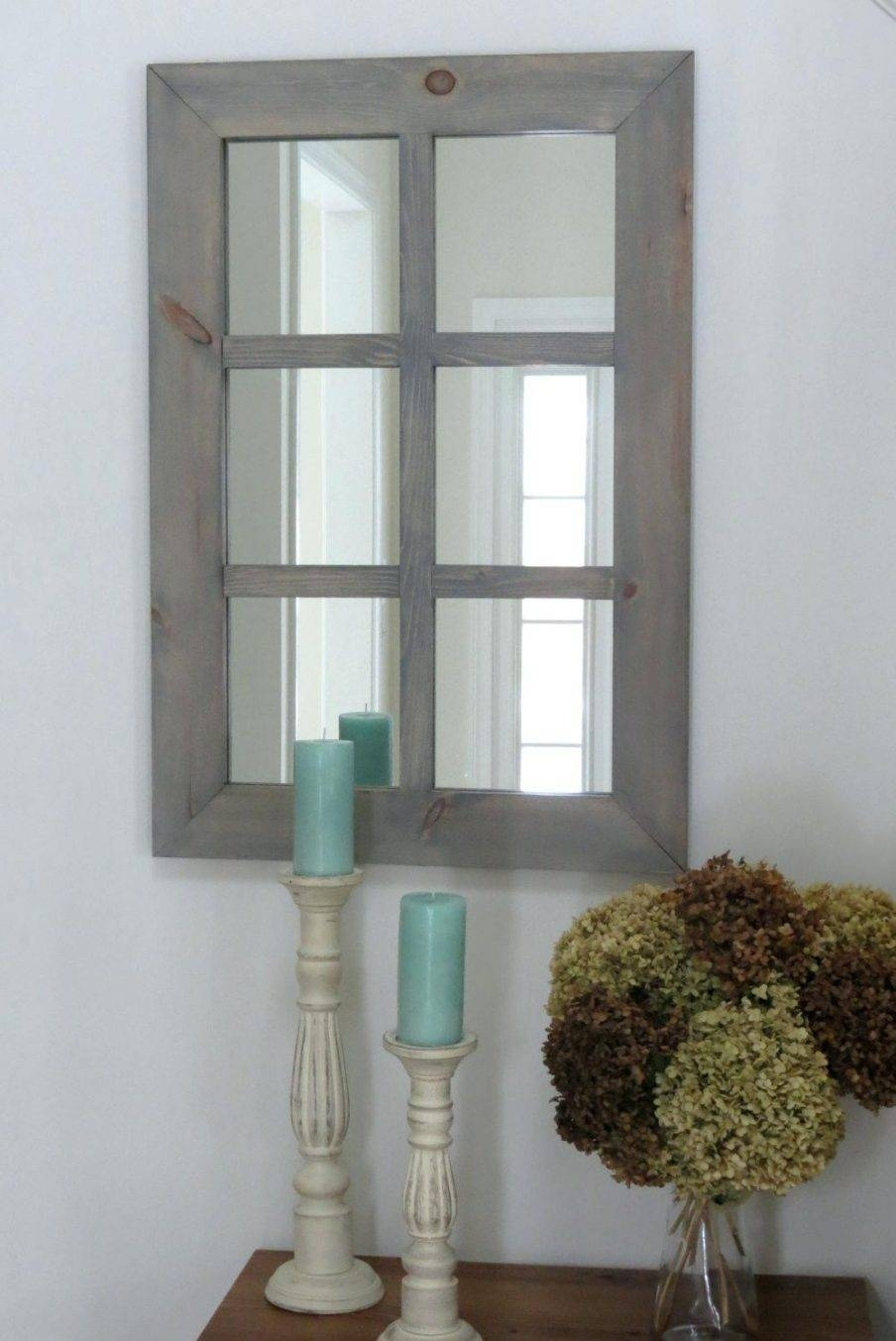 Wall Design: Window Wall Mirror Design. Window Pane Mirror With with regard to Wall Mirrors With Shutters (Image 21 of 25)