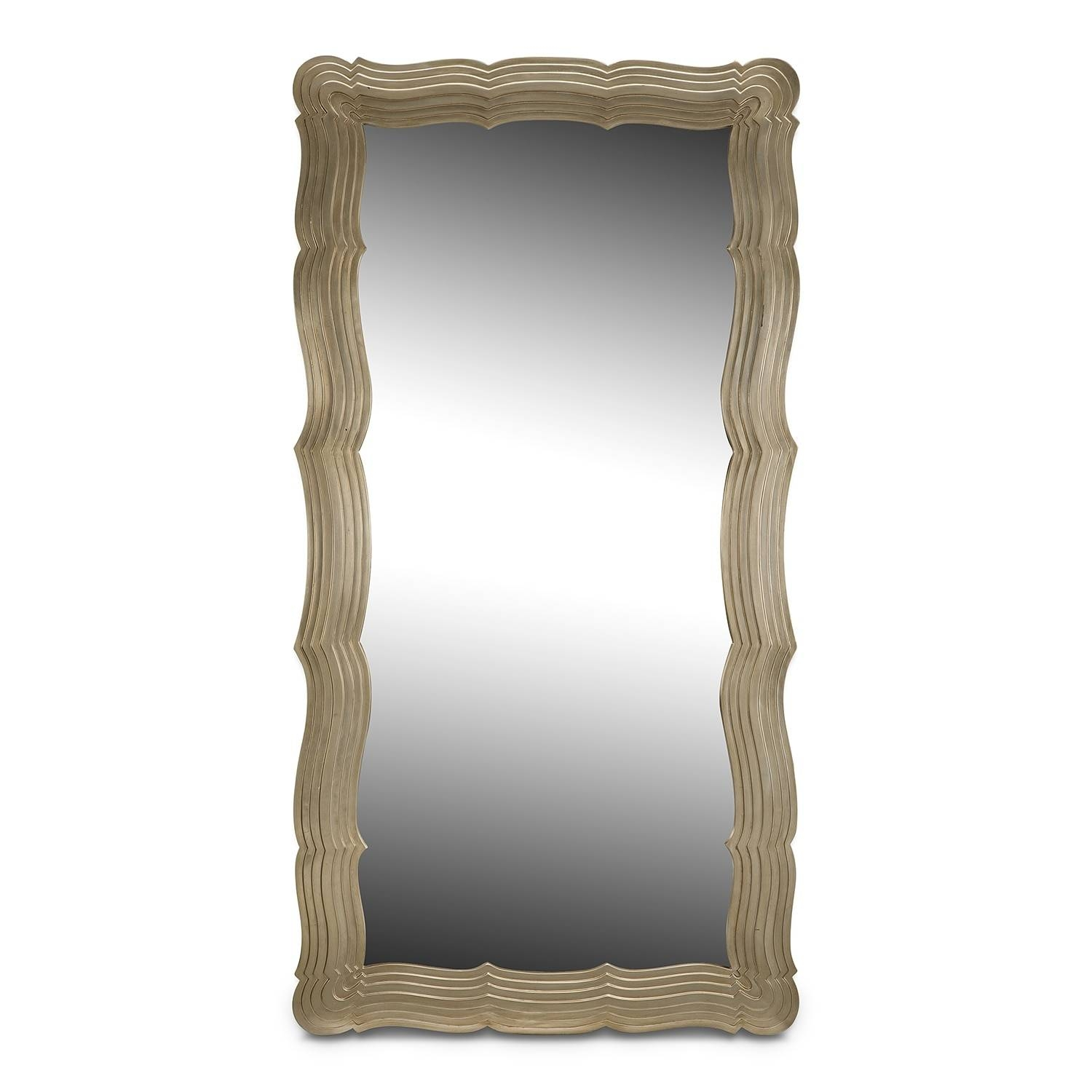 Wall & Floor Mirrors | Value City Furniture inside Silver Glitter Mirrors (Image 24 of 25)