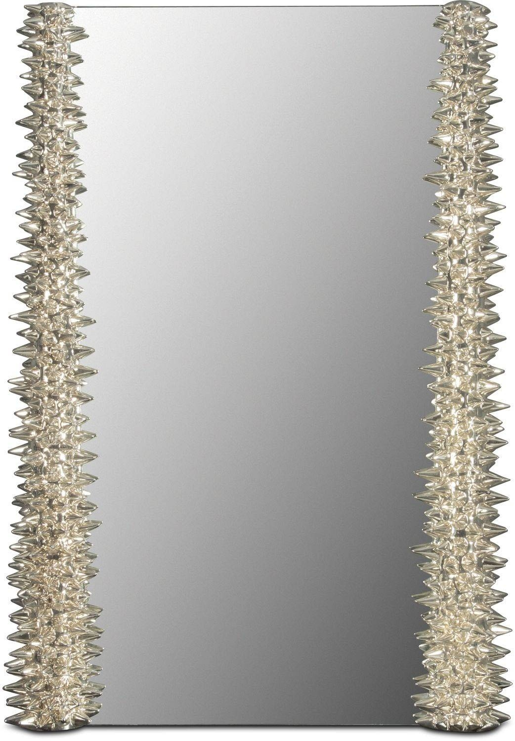 Wall & Floor Mirrors | Value City Furniture with Chrome Floor Mirrors (Image 25 of 25)