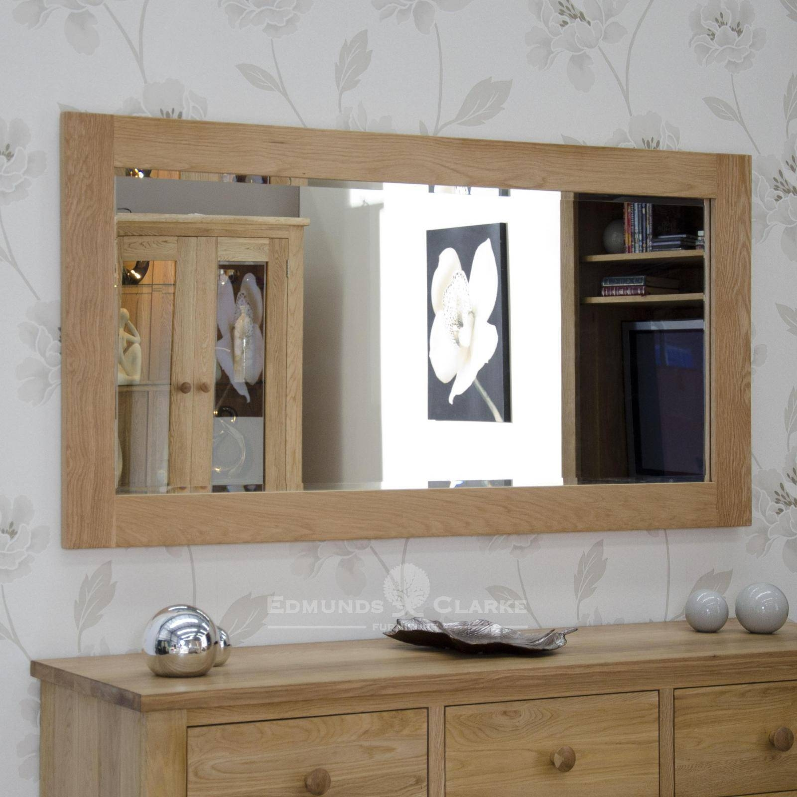 Wall Mirror 150 X 75 - Oak - Mirrors - Pine Shop Bury pertaining to Large Oak Mirrors (Image 24 of 25)