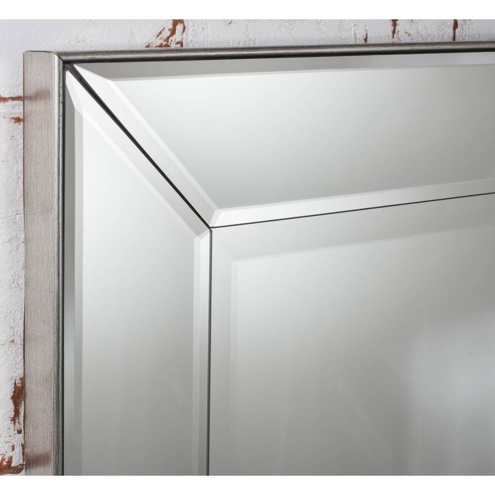 Wall Mirror: Baskin Mirror Silver | Select Mirrors regarding Silver Mirrors (Image 25 of 25)