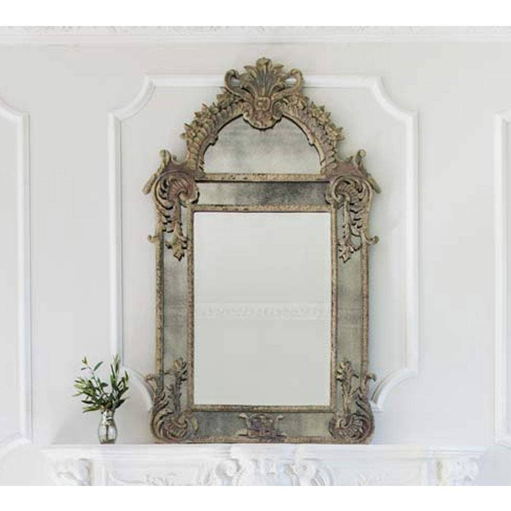 Wall Mirrors & French Mirrors: French Bedroom Company in French Shabby Chic Mirrors (Image 23 of 25)