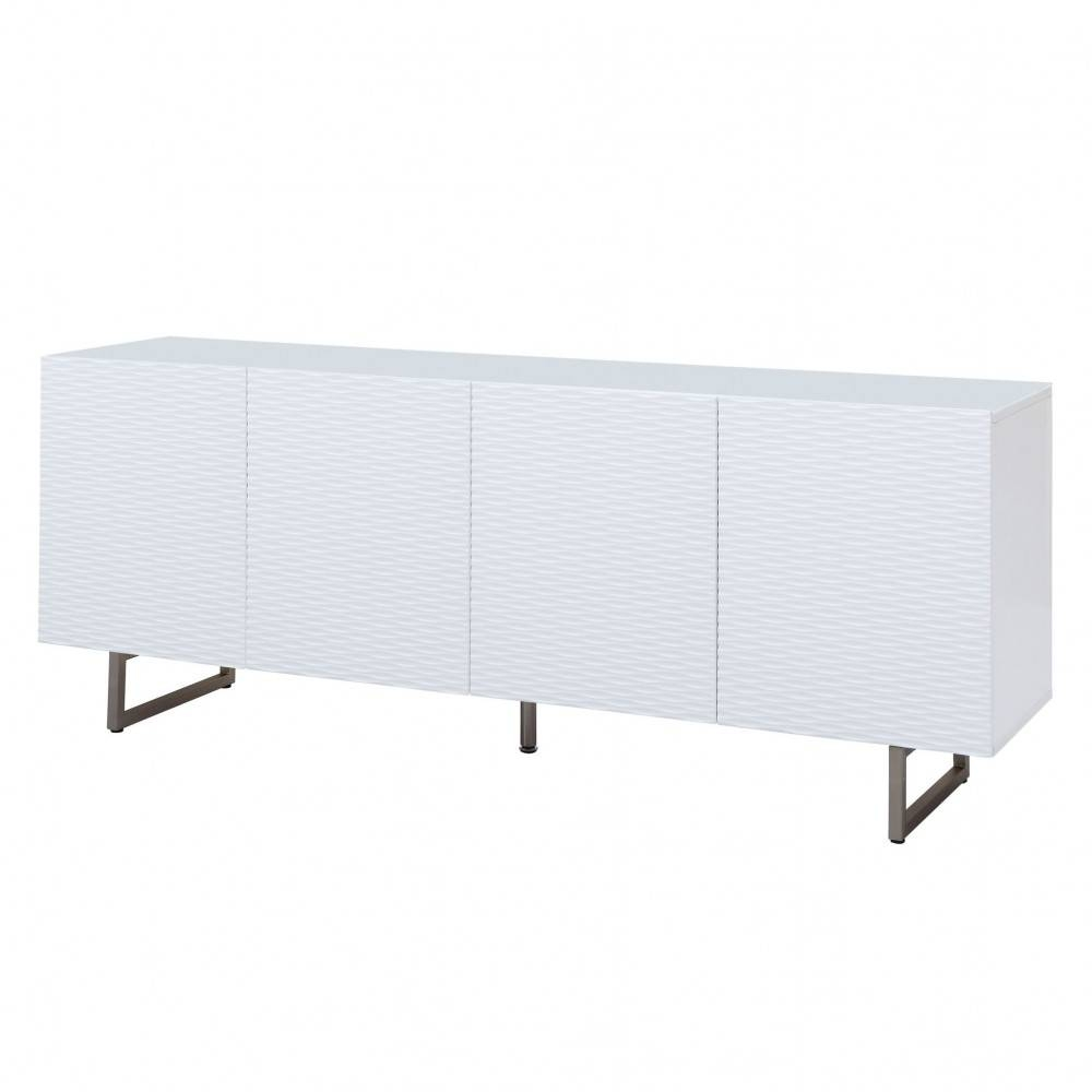 Wally High Gloss White Buffet, White Line Imports - Modern Manhattan pertaining to Gloss White Sideboards (Image 29 of 30)