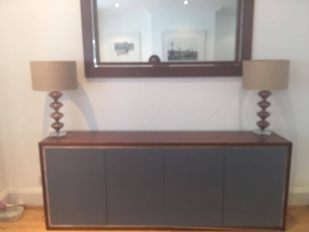 Walnut. And Grey Gloss Sideboard Nw7 Handmade | In Mill Hill for Grey Gloss Sideboards (Image 29 of 30)