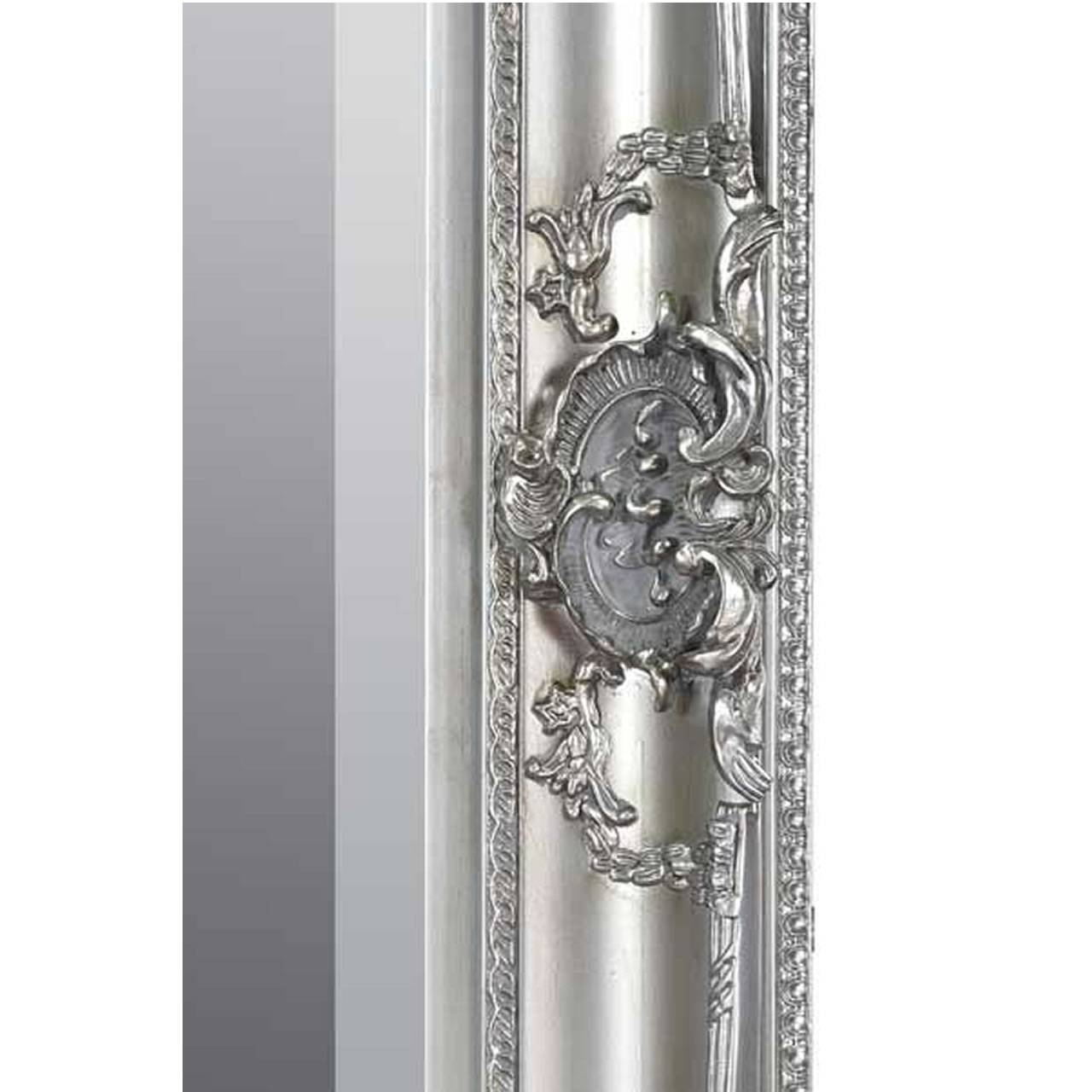 Walton Large Silver Ornate Wall Mirror with regard to Silver Ornate Framed Mirrors (Image 25 of 25)