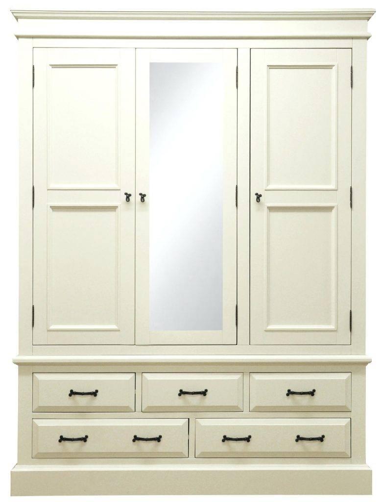 Wardrobe : 31 Marvelous White Wooden Wardrobe Photo Design White inside White Wood Wardrobes With Drawers (Image 8 of 15)