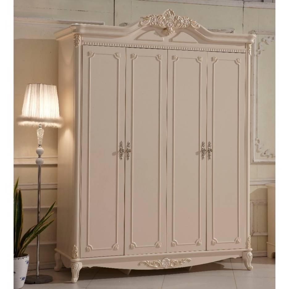 Wardrobe : 31 Marvelous White Wooden Wardrobe Photo Design White Throughout White Vintage Wardrobes (View 14 of 15)