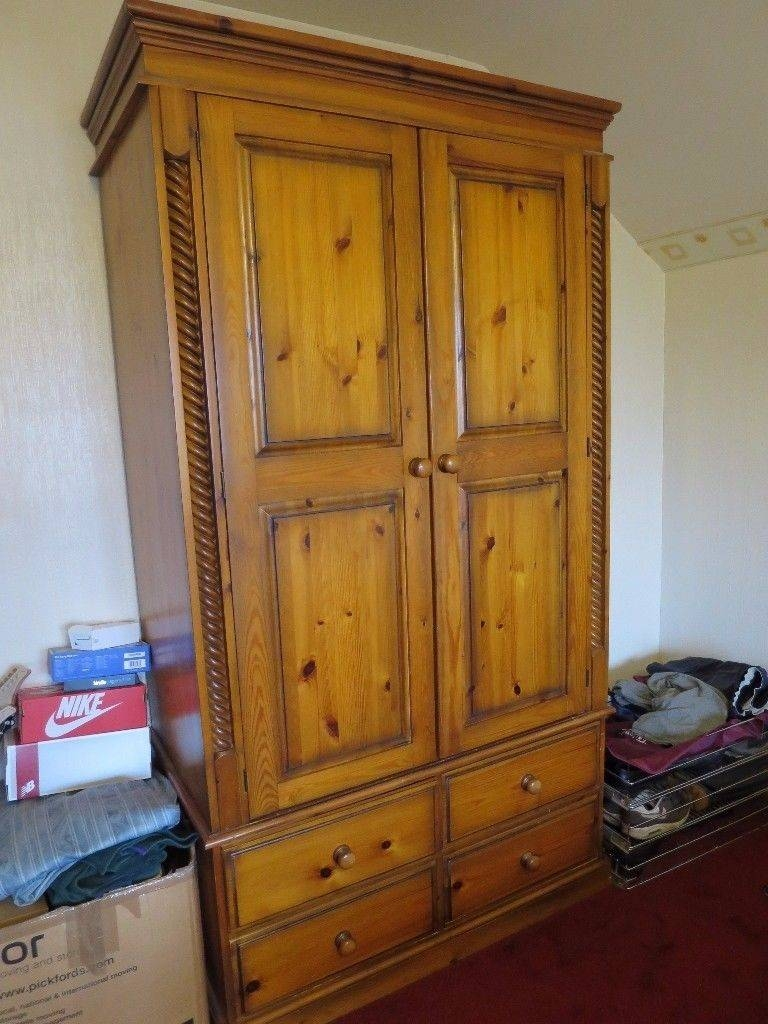 Wardrobe Antique Style Pine Double Wardrobe. | In Sidcup, London within Pine Double Wardrobes (Image 15 of 15)