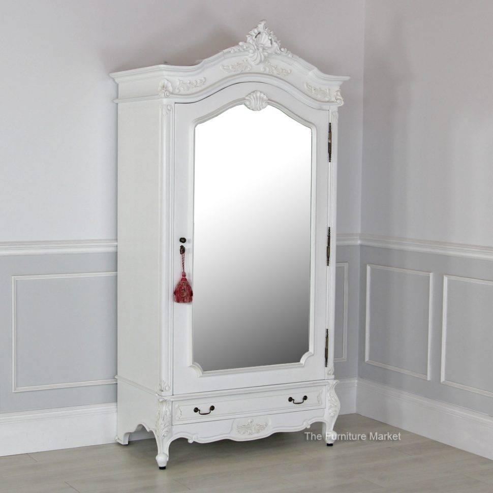 Wardrobe : Bedroom Furnitureardrobe And Drawershite Armoire Closet With Regard To Single Door Mirrored Wardrobes (View 13 of 15)