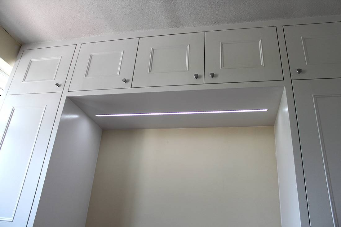 Wardrobe Company, Floating Shelves, Boockcase, Cupboards, Fitted within Wardrobes Above Bed (Image 15 of 15)